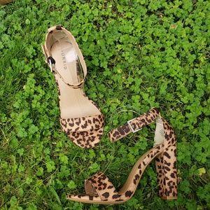 Torrid Cheetah Simple Ankle Strap Heel Sandal 9.5W